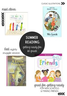 Summer Reading List, Getting Ready for first grade