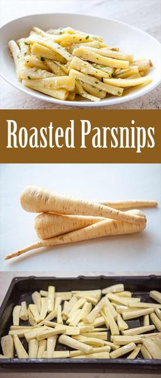 Parsnips roasted in butter and stock with parsley, chives, garlic, and a touch of horseradish. Perfect for a holiday side dish!