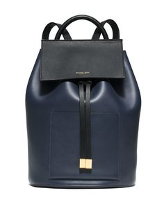 6f8e5371f771 Michael Kors Miranda Large Color-Block French Calf Leather Backpack Indigo  Work or Play? With incredibly smooth leather and lustrous hardware accents,  ...
