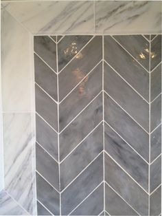 Tile pattern--Boheme Tiffany Glass Tile in Chevron