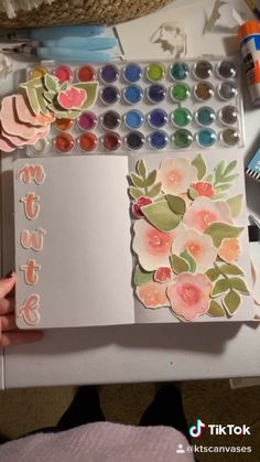 watercolor bullet journal spread - KT's Canvases Bullet Journal Notebook, Bullet Journal Ideas Pages, Bullet Journal Spread, Bullet Journal Inspiration, Diy And Crafts, Paper Crafts, Bullet Journal Aesthetic, Scrapbook Journal, Hand Lettering