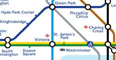 Transportation maps: the tube, bus, cycling, riverboat, tam, rail.