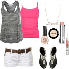 Summer oufit love the bright pink !