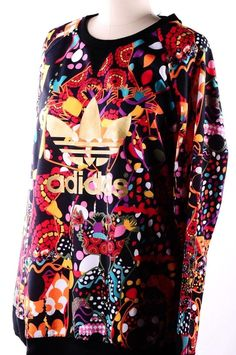 Adidas Originals FARM Women s Maracatu Gold Trefoil Red Multicolor  Sweatshirt M  adidas  Sweatshirt Adidas 6c23212069