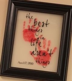 """The Best Things in Life"" - I absolutely LOVE this idea and would love to this with my children."
