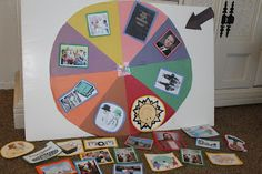 """""""Wheel of Wonder""""~ DIY Spin the Wheel Game.  Use for FHE or Primary Chorister to Pick a Song"""