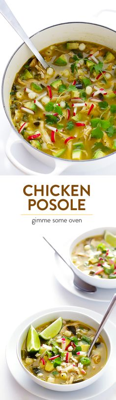 Cajun Delicacies Is A Lot More Than Just Yet Another Food This Chicken Posole Verde Is A Simple Mexican Soup, Tossed With Lots Of Fresh And Delicious Ingredients Crockpot Recipes, Soup Recipes, Chicken Recipes, Dinner Recipes, Cooking Recipes, Healthy Recipes, Posole Recipes, Posole Verde Recipe, Comida Latina