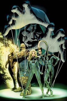 Ultimate Fantastic Four by Greg Land - Universo Marvel Marvel Villains, Marvel Comics Art, Marvel Vs, Marvel Heroes, Marvel Characters, Captain Marvel, Comic Book Artists, Comic Artist, Comic Books Art