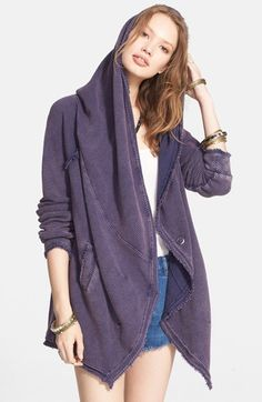 Free People 'The Big Chill' Cardigan cotton/poly navy, eggshell 28.5L szS 76.80