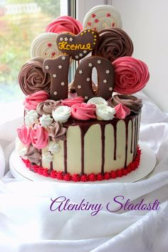28 Ideas For Cupcakes Decoration Ideas Creative Pretty Cakes, Cute Cakes, Yummy Cakes, Cake Cookies, Cupcake Cakes, Drippy Cakes, Pink Birthday Cakes, Cake Shop, Girl Cakes