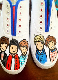 One Direction Shoes...Too funny/cute!