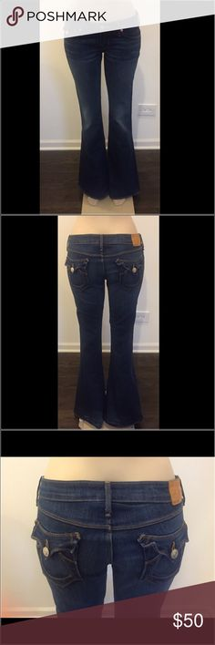 "True Religion Carrie Bell Bottom Medium Wash Sz 28 Size & Fit- Low Flare  Front Rise: 8"" Back Rise: 10.5"" Inseam: 33"" True Religion Jeans Flare & Wide Leg"