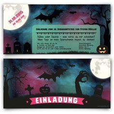 Einladungskarten - Halloween #geburtstag #einladung #geburtstagseinladung #halloween #birthday #invitation