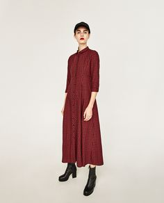 CHECK SHIRT DRESS-DRESSES-WOMAN   ZARA Indonesia