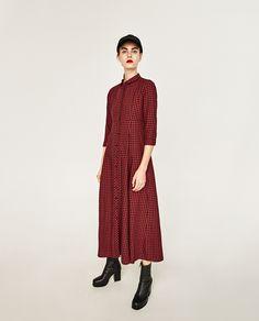 CHECK SHIRT DRESS-DRESSES-WOMAN | ZARA Indonesia