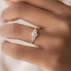 Diamond Snowdrift Ring | Handcrafted Engagement Ring