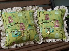 Linen Beehive and Birdcage Pillows » Flamingo ToesFlamingo Toes - tutorial