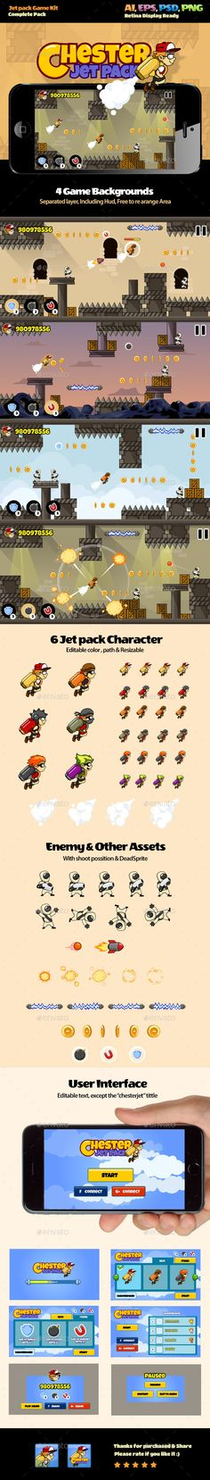 Jet Pack Kit - Game Kits #Game #Assets | Download http://graphicriver.net/item/jet-pack-kit/11993997?ref=sinzo