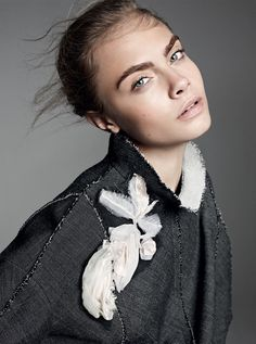 A shift in eyebrow color can be just the subtle—if definitive—beauty statement you're looking for this season. Cara Delevingne photographed by Karim Sadli, Vogue, October 2013.