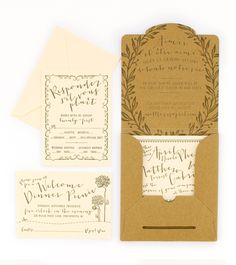 French Garden Party Wedding Invitation | Coral Pheasant