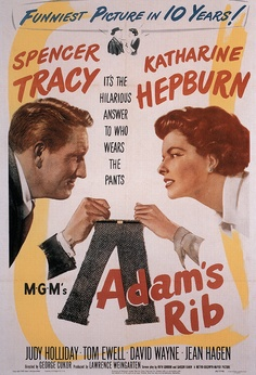 """Adam's Rib"", romantic comedy film by George Cukor (USA, 1949)"