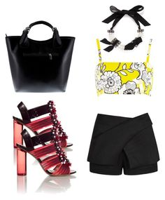 """Untitled #70"" by margaritavzlal on Polyvore featuring River Island, Lanvin, sass & bide, Nicholas Kirkwood and Massimo Castelli"