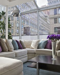 Tribeca Penthouse Living room vignette2 - Modern - Living room - Images by Marie Burgos Design | Wayfair