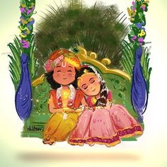 No photo description available. Lord Krishna Wallpapers, Radha Krishna Wallpaper, Lord Krishna Images, Radha Krishna Pictures, Little Krishna, Cute Krishna, Krishna Drawing, Krishna Painting, Radha Krishna Photo