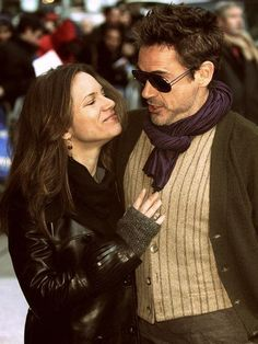 The adorable Robert & Susan Downey