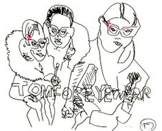 belle BRUT: Drawing again… #GirlsWhoWearGlasses.  An ode to #TomFord  © belle BRUT 2014