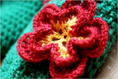 double crochet flower