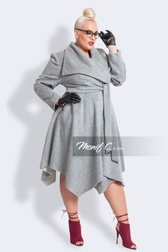 Plus Size Luxury Wool & Cashmere Coat