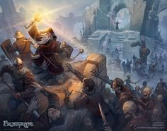 Frostgrave: Zombie assault, Dmitry Burmak on ArtStation at https://www.artstation.com/artwork/5W1Xw