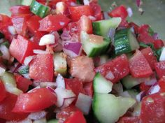 Cucumber, Tomato, Onion Salad