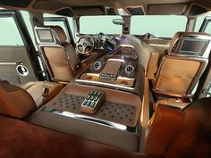 A Hummer H1 may not be a luxury car, but this interior sure is.