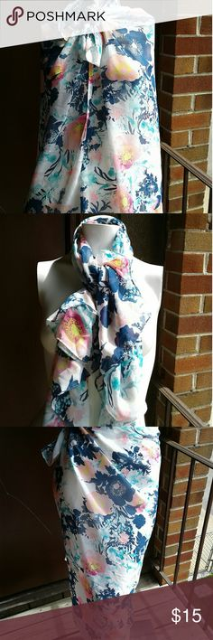 Boho shear scarf Floral chic scarf .can be worn as a scarf, wrap or bathing suit cover up. This scarf would also be cute as a hair accessory.  This scarf is reposhed and in excellent condition. Accessories Scarves & Wraps