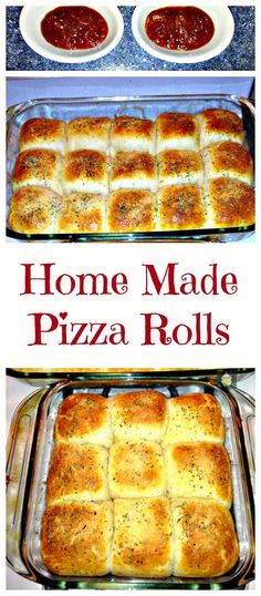 Home made Pizza Rolls - Use the filling suggestions in the recipe or add your own !