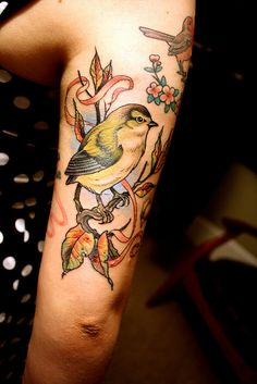 Tatttttttoo    It is new, and it is by Ryan Mason who is amazing.    It's still healing here, so is a little flakey.