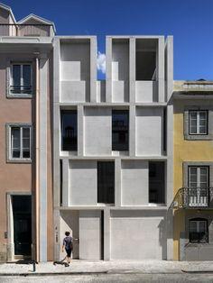 Prédio em Lisboa. Arquiteto: ARX Portugal Arquitectos. Fotógrafo: FG + SG.