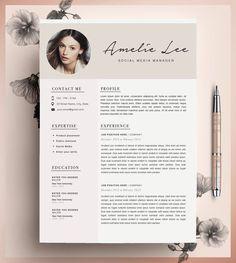 Resume Templates Creative Beautiful Resume Template For Ms Wordoriginal Resume Design