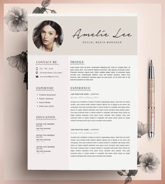Creative #Resume Template #CV Template Instant by CvDesignCo…