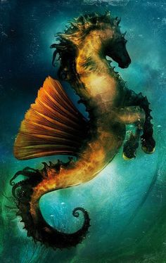Hippocampe by Aurelien Police or I say Sea Horse Mermaids And Mermen, Fantasy, Sea Creatures, Fantasy Art, Mythical, Art, Faeries, Fantasy Horses, Mythological Creatures