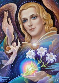 Archangel Gabriel ~ Vladimir Suvorov art