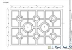 Coffered Ceiling Design Drawing - Bespoke 25