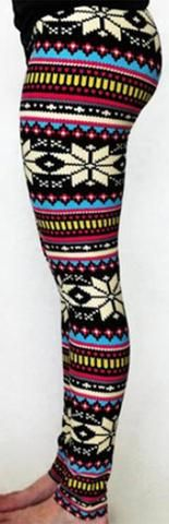 Cupshe New Snow Envy Stripe Leggings
