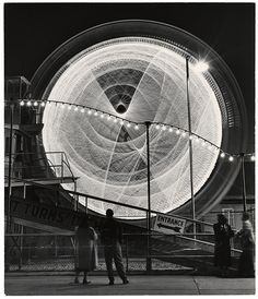 The Gyro Globe Coney Island, New York, 1949 / Long exposure shots of fairground rides in Coney Island by Andreas Feininger.