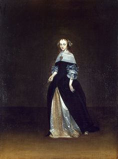 Gerard ter Borch, Portrait of Catarina van Leunink (1654-81, The Hermitage, Saint Petersburg)