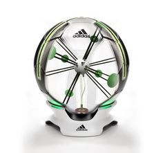 adidas Smart Ball - Smart Ball is a soccer ball with an integrated sensor that detects speed, spin, flight path and impact point. Kick data is transmitted wirelessly over Bluetooth Smart where it is displayed in a highly visual way.