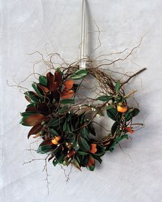 Floral designer Emily Thompson turns simple materials, like foraged branches and seedpods, into unconventional holiday wreaths that go beyond the front door.By Melissa Ozawa