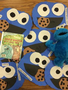 Cookie Monster - Letter C craft idea or make on National (Chocolate Chip) Cookie…                                                                                                                                                                                 More